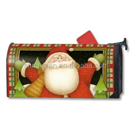 Christmas Santa Decorative Magnetic Mailbox Covers Residential us Mailbox Covers