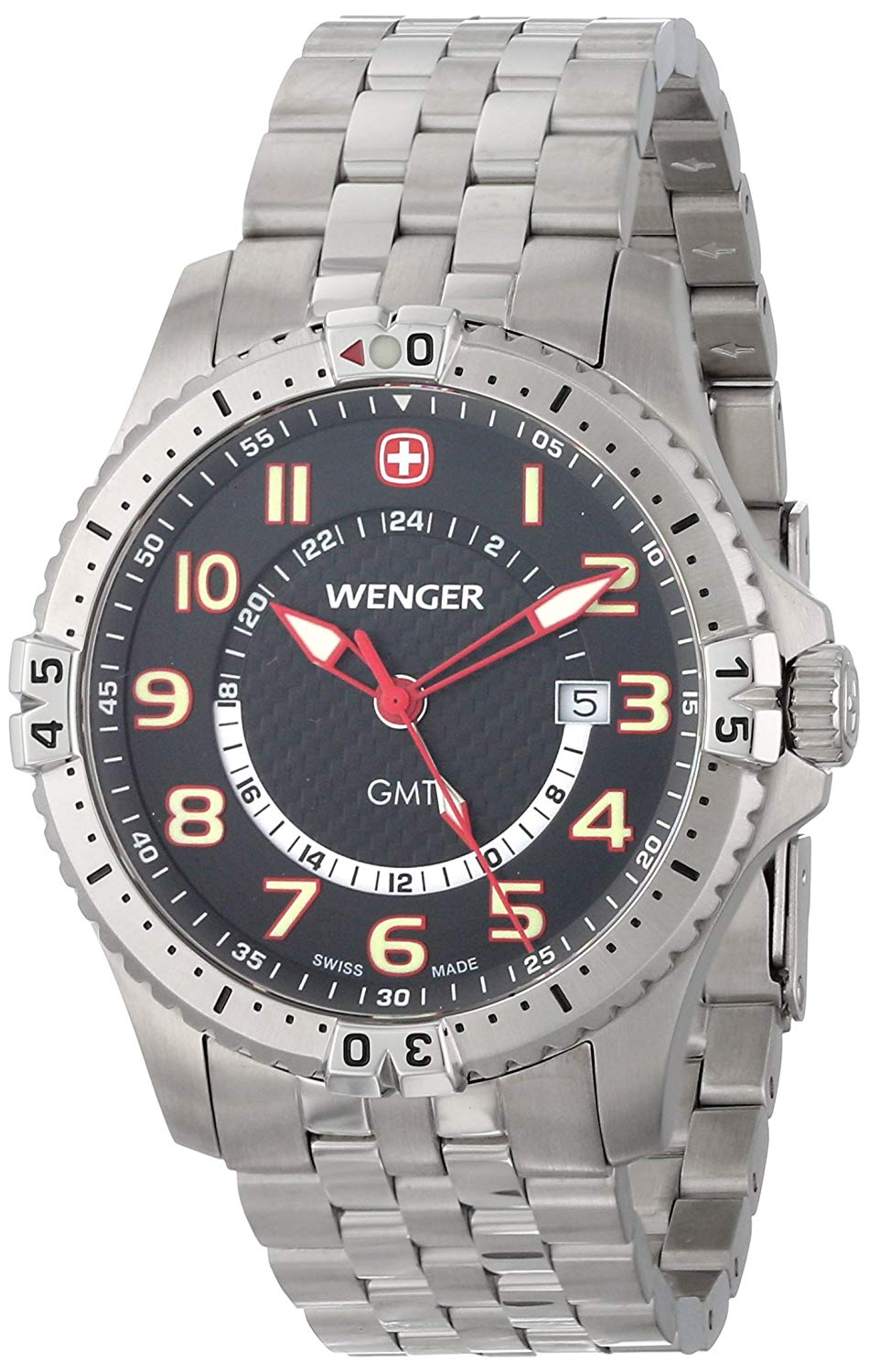 Buy Mens Wenger 77073 Squadron GMT PVD Watch in Cheap Price on ... 87f31c697d