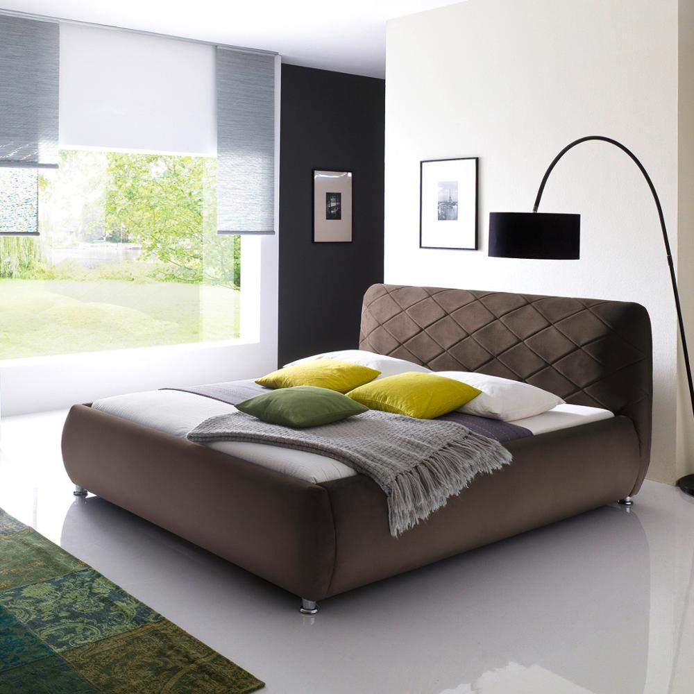 - European Back Modern Soft Bed Designer Furniture Linen Fabric