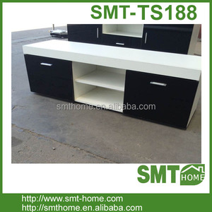 white black glossy laminate Modern design TV Cabinet