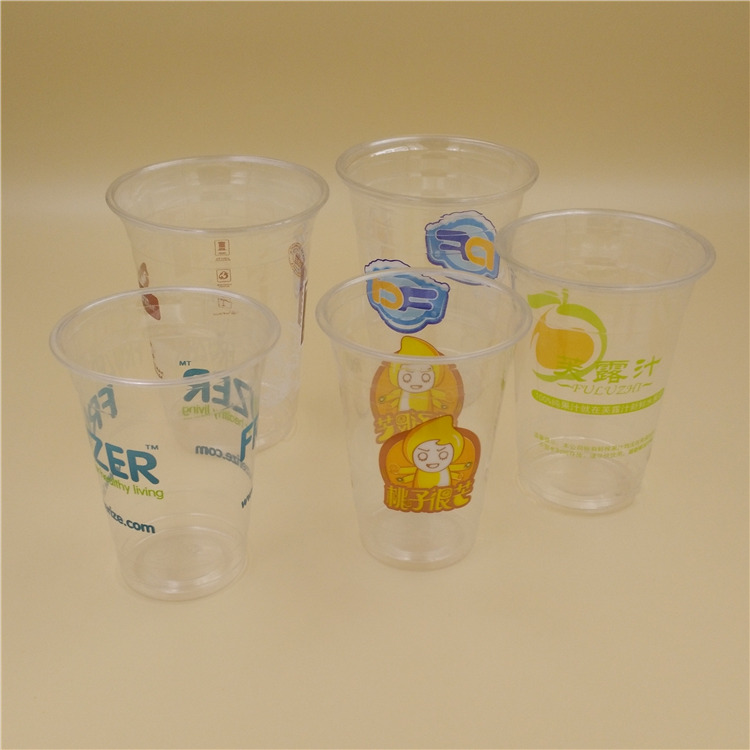 Custom print clear PET plastic china disposable cup