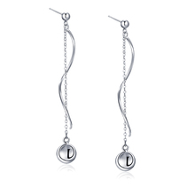 FSB2-004 futuristic wave drop earrings 925 sterling silver fashion jewelry wholesale