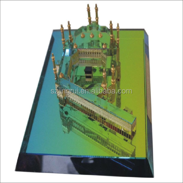 New Design Mini 3d Crystal Mecca Building Scale Models Jb001 - Buy Mini 3d  Crystal Model,Mini Crystal Kaaba Model,Mini 3d Crystal Building Model