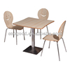 cheap restaurant tables chairs 12mm thick rubber wooden dining table