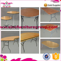 Brand new Qingdao Sinofur folding steel legs camping table