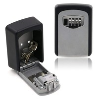 Key Storage Lock Box, 4-Digit Combination Lock Box, Wall Mounted Lock Box