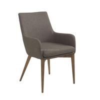 Dark Grey Fabric Arm Chairs