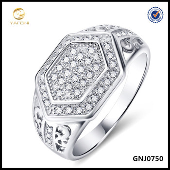 Micro Pave Men's Ring, 925 Silver Ring, Fashion Men's Jewelry