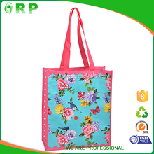 Popular design multi-functional printing floral pp woven shopping bag