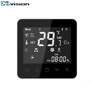 China Factory Home Wifi Touch Screen Smart Wireless Remote Fan Coil Black  Thermostat Nest - Buy Touch Screen Thermostat,Wireless Remote