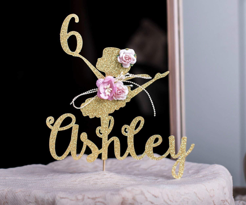 Ballerina Cake Topper, Ballerina Centerpieces, Ballerina Party Birthday Decorations - Custom Ballerina Cake Topper