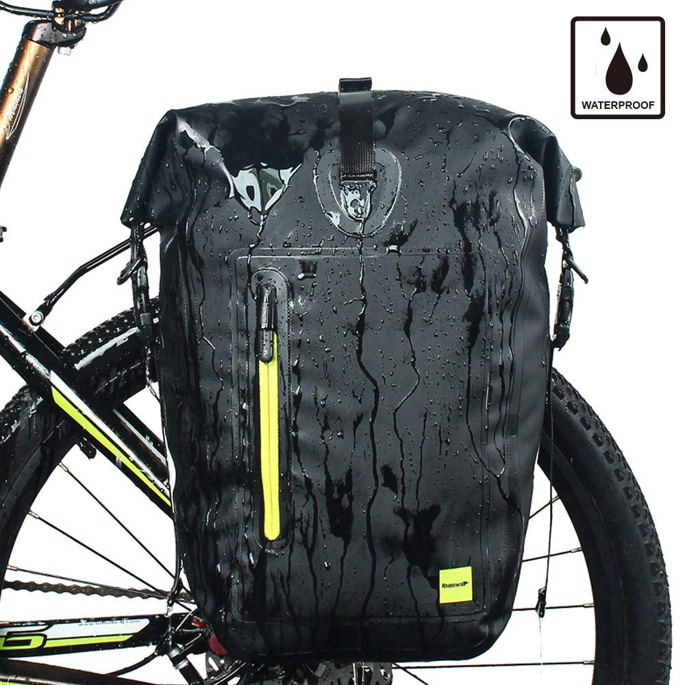 d2b569800880 Get Quotations · Rhinowalk Bike Bag Waterproof Bike Pannier Biycle Cargo  Rack 25L Postman Saddle Bag Shoulder Bag Laptop