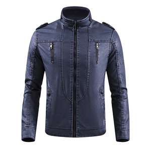 Wholesale Pakistan Men Tactical Fleece Lining Military Windproof leather Jacket