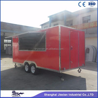 JX-FS500 red food truck NEW 5M Enclosed Food Vending Mobile Kitchen Concession Catering Trailers