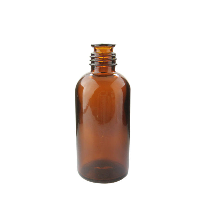 Large Capacity 250ml 5oz Amber Glass Bell Mouth Essential Oil Bottle