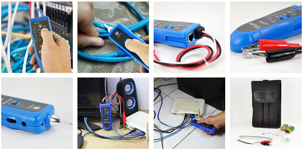 Wire Tracer  Circuit Tester with RJ-11 Plug and Alligator Clips Tone and Probe