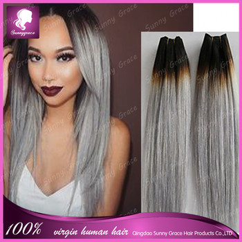 Malaysian ombre silver 1bgrey color human remy hair weave dark malaysian ombre silver 1bgrey color human remy hair weave dark roots black hair weft pmusecretfo Image collections
