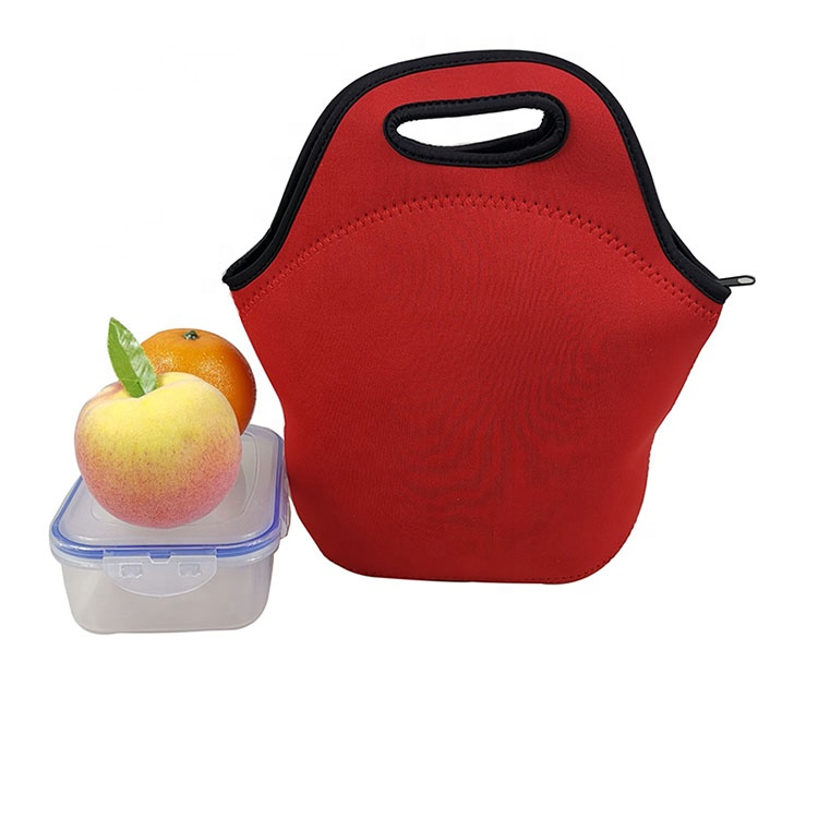 Low Price Promotional Outdoor Fruit Beach Insulated Zipper Lunch Bag With Custom Logo