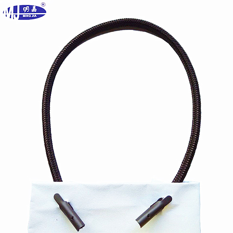 Round Polyester Drawstring Bag Cord with T-end tip