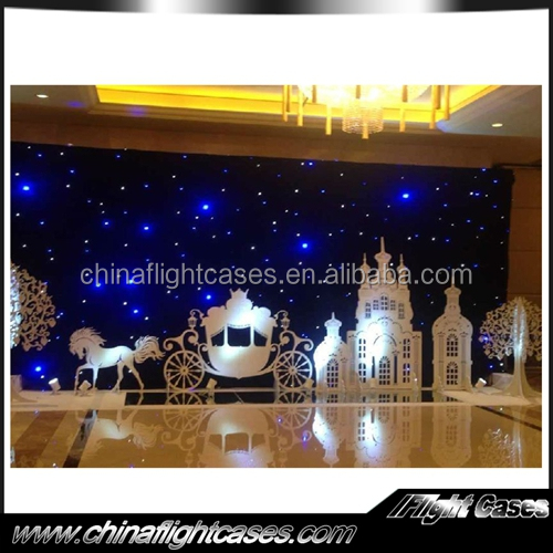 professional led star curtain/exhibition backdrop /trade show led curtain professional led star cloth