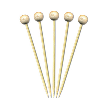 Natural Ball Skewer Disposable Colorful Bamboo Skewer