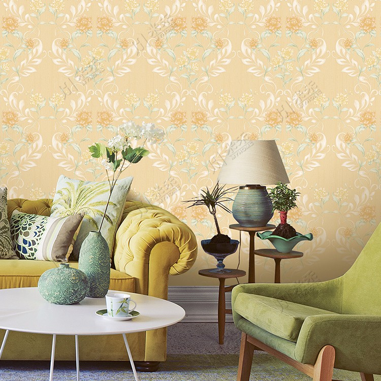 2017 new lauched classic flower design modern damask Italian wallpaper