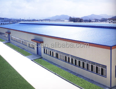 long span prefabricated steel structure factory