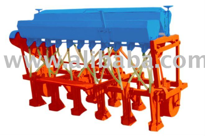 Seed Drill cum Fertilizer Machine