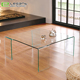 living room furniture glass square center table