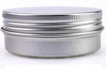 round aluminum tin box with screw top lid