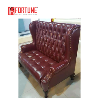 High Back On Tufted Sofa Booth Pu Leather Restaurant Banquet Foh Ck49