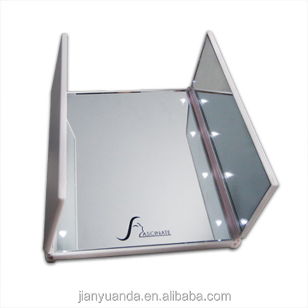 foldable three sides table cosmetic mirror small compact custom mirror free standing mirror
