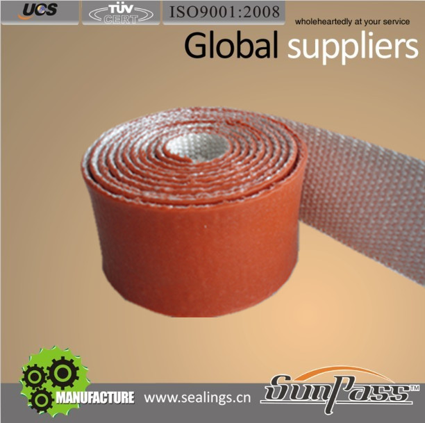 Hoses Fabric Construction Heat Protection Silicon Strips Silicone Coated Fiber Glass Tape