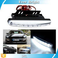 Car Light 8 LED DRL Outside wiring Car Auto Light Source Fog Driving Daylight Daytime Running Light LED White Head Lamp
