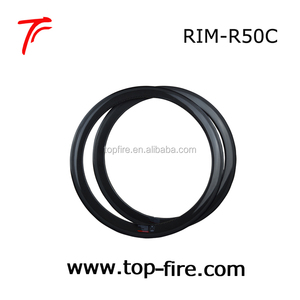 top fire Clincher 50mm depth 700c Carbon Rim Road Bicycle Rims 23 20mm width bicycle clincher rims