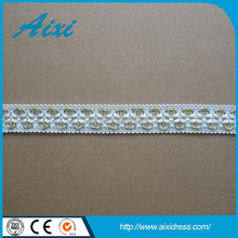 Hot china products wholesale ribbon lace embroidery lace fabric
