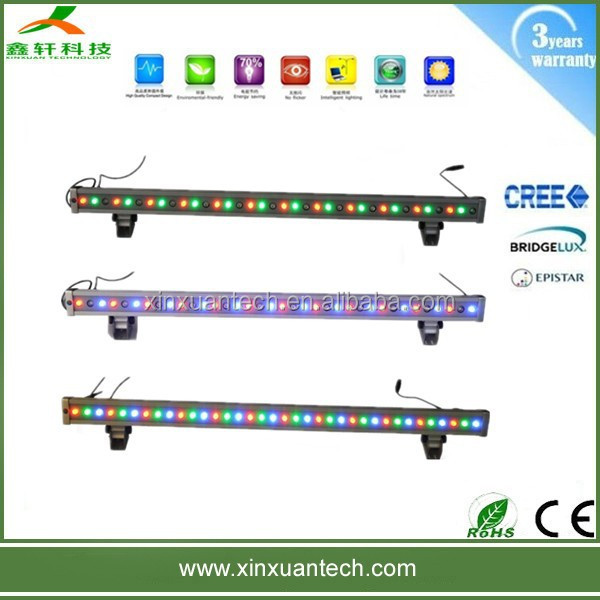 High quality color changing 36w led wall washer light rgb dmx