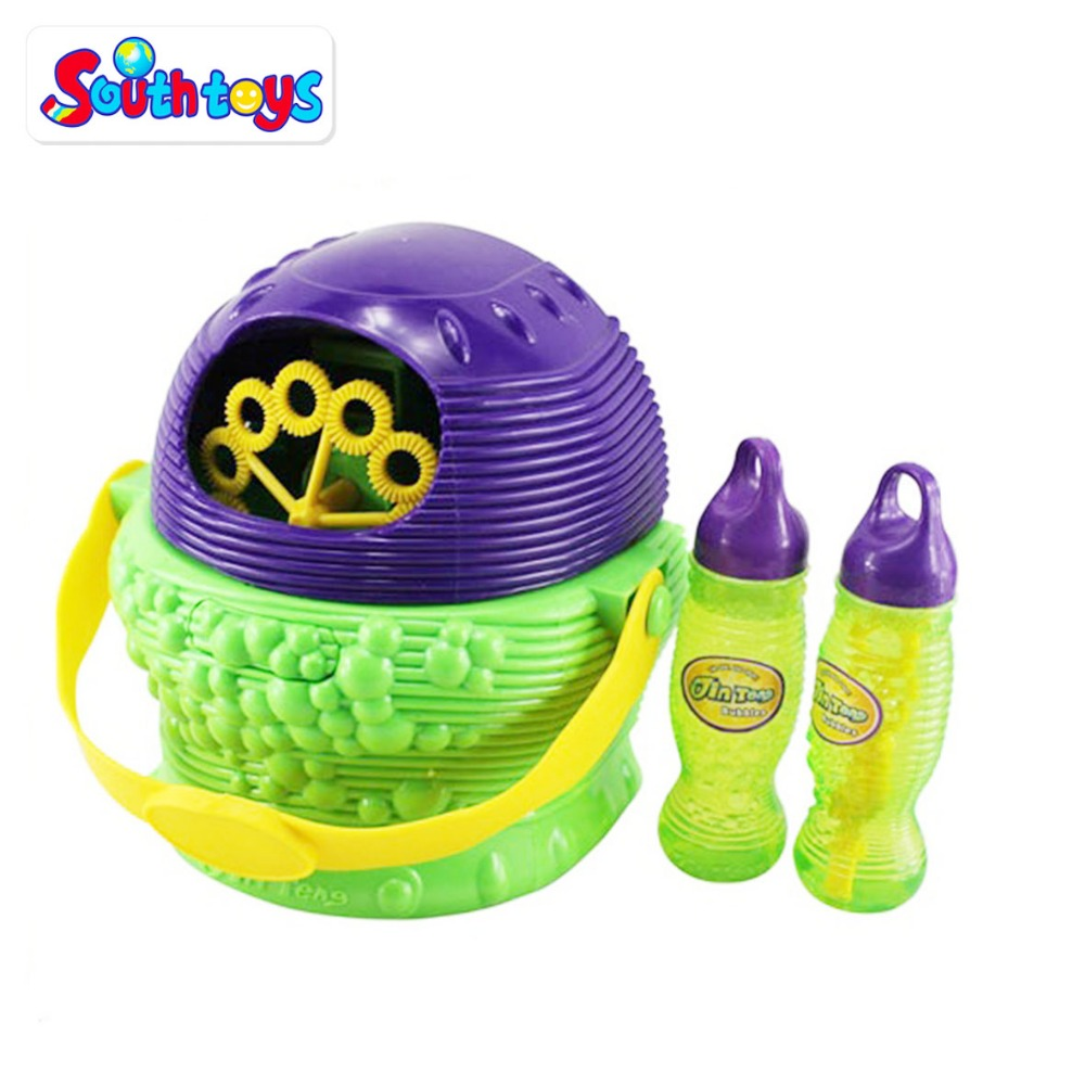 Electric Bubble Blizzard Basket Machine Toy for Kids with Handle and Removable Cover