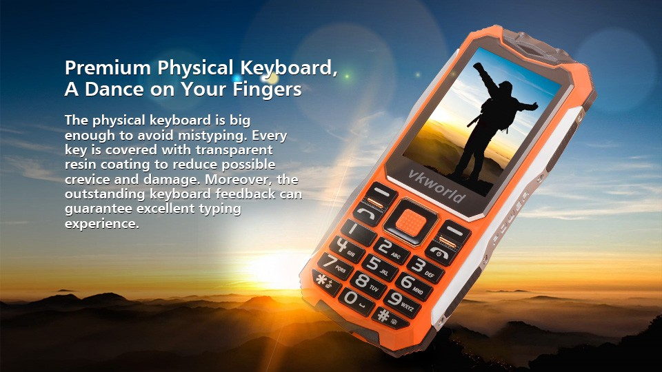 Free Shipping Online Shop Low Price China Mobile Phone vkworld Stone V3S 2.4inch 21 Keys 2200mAh Dual Sim Rugged Cell Phone