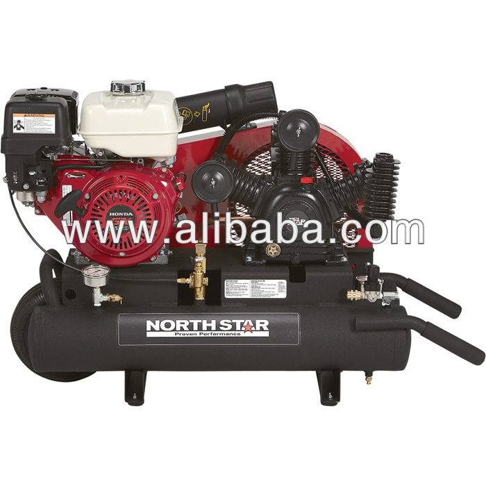NorthStar Gas-Powered Air Compressor - Honda GX270 OHV Engine, 8-Gallon Twin Tank, 14.9 CFM 90 PSI