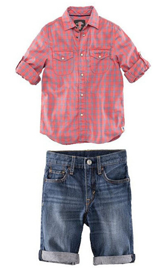 becf5227 Buy boy clothing suit new 2015 plaid new designer children clothes long  sleeve T-shirt + blue Pant cute vetement enfant fille bebe in Cheap Price  on ...