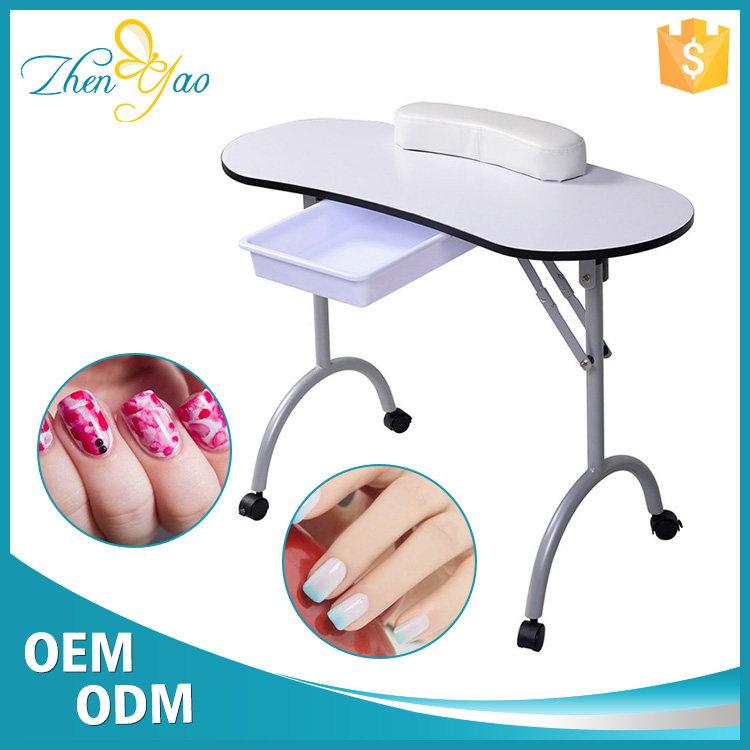 Practical Design Folding Manicure Desk Beauty Nail Bar Tables For Sale