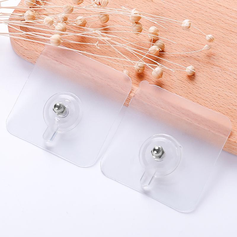 Bathroom Hook Shelf Peel and Stick Seamless Self-adhesive Screw sticky hooks