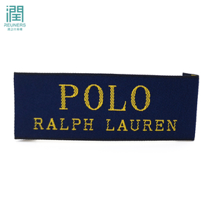 Custom Made Clothing Woven Label Name Tag T-shirt With Personalized Brand