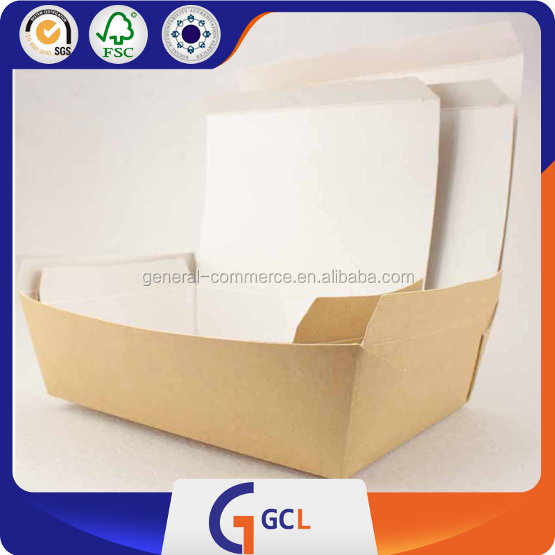 Custom printed disposable lunch fast food kraft paper box