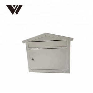 WELDON China Supplier Metal Locking Security Mailbox For Letter Parcel Mail Box Steel Post Box Outdoor