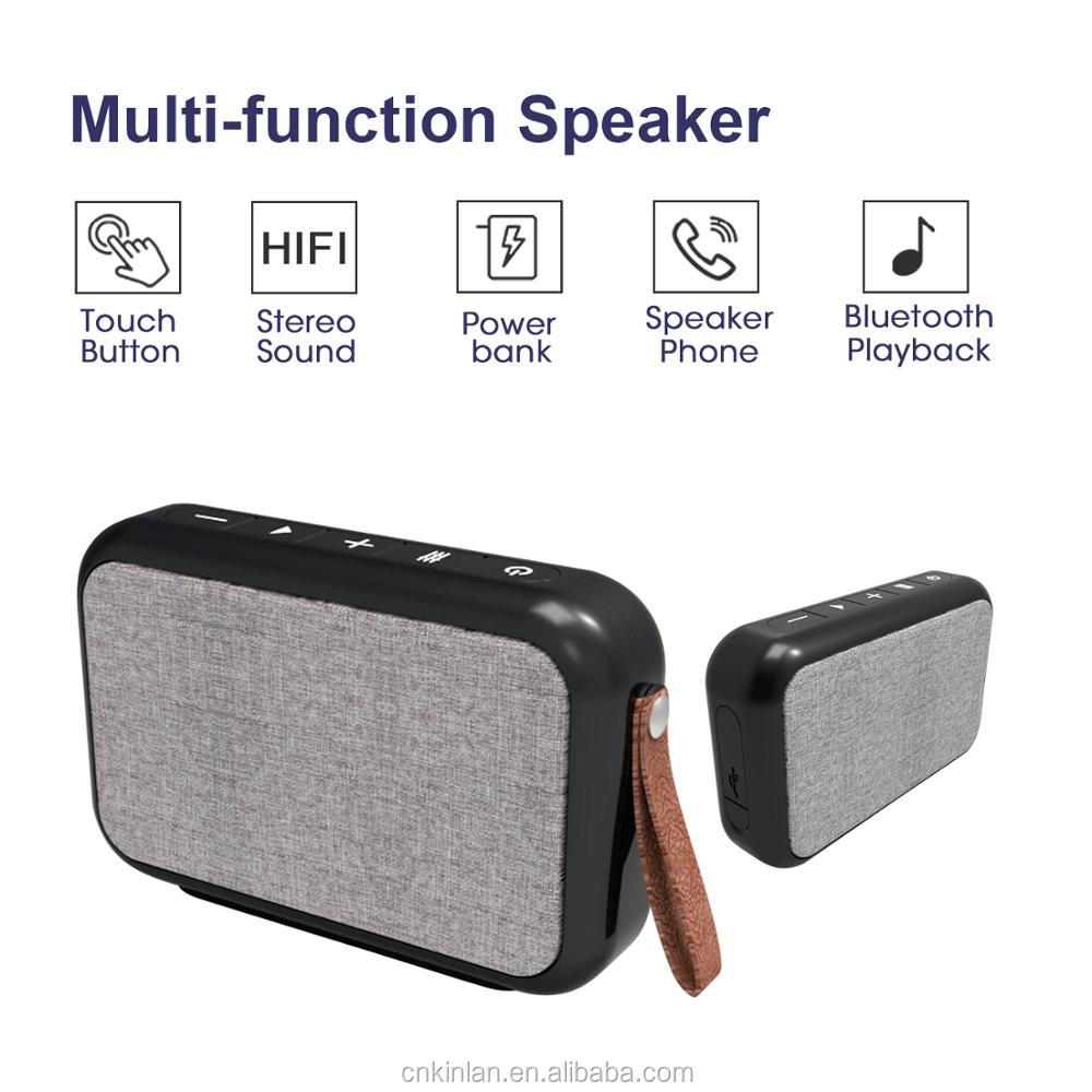 Portable Wireless Fabric Bluetooth Speaker