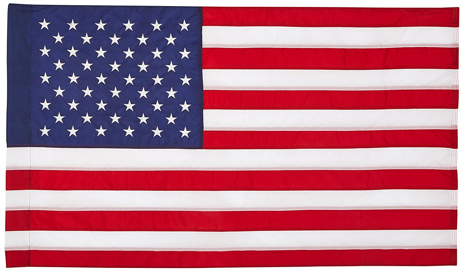 US Flag 2.5'x4' US AMERICAN FLAG 28x40 inch (Pole Sleeve) Outdoor SolarMax Nylon Flag (Embroidered Stars & Sewn Stripes) - 100% Made in America / Military Grade Fabric
