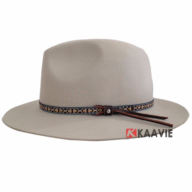 High Quality Wide Brim Wool Felt Formal Party Jazz Trilby Fedora Hat ... 3d0f77402db3