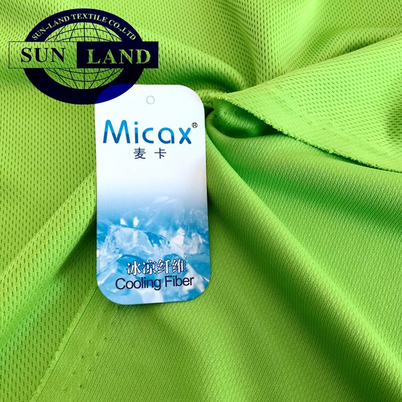 Quick dry micro check mesh knitting fabric for sports wear
